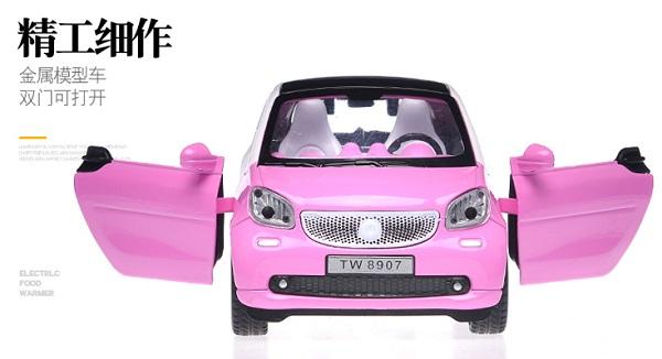 โมเดลรถเหล็ก โมเดลรถยนต์ Benz Smart 4