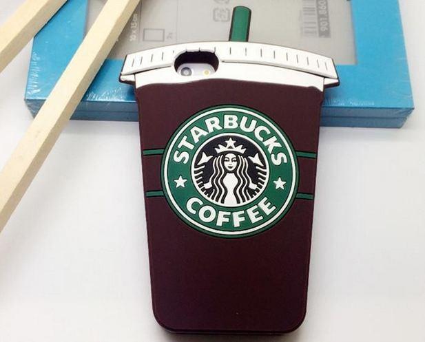 เคส iphone 6 6 plus ขนาด 4.7 และ 5.5 นิ้ว เคส 3D ซิลิโคนอย่างดี ลาย แก้วกาแฟ Starbucks 706218