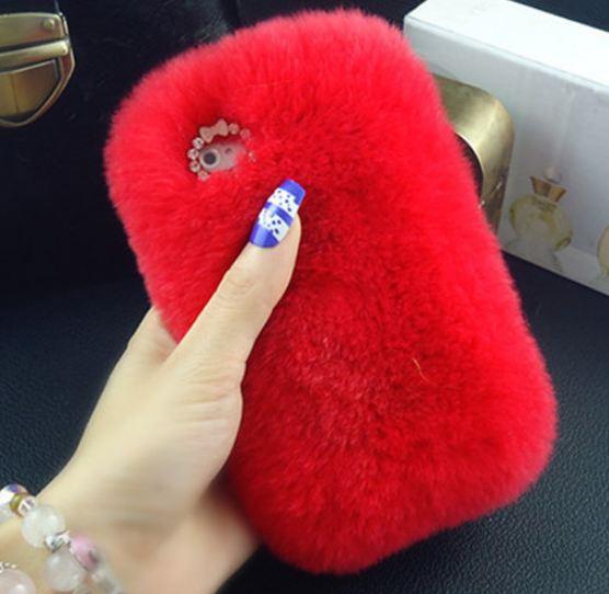 เคส iphone 6 6 plus เคสขนเฟอร์ ขนกระต่ายแท้ ขนาด 4.7 และ 5.5 นิ้ว เคสขนกระต่าย ทำความสะอาดได้ สีแดงสด สาวเปรี้ยว 403364_5