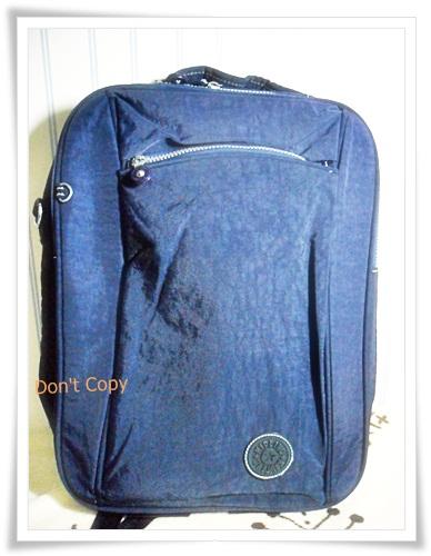 กระเป๋า notebook สะพายหลัง 3 สไตล์ สีกรมท่า KP012