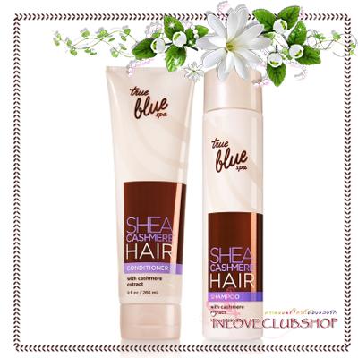 Bath & Body Works True Blue Spa / Shampoo 296 ml.+Conditioner 266 ml. (Shea Cashmere) *เหลือ1คู่สุดท้าย