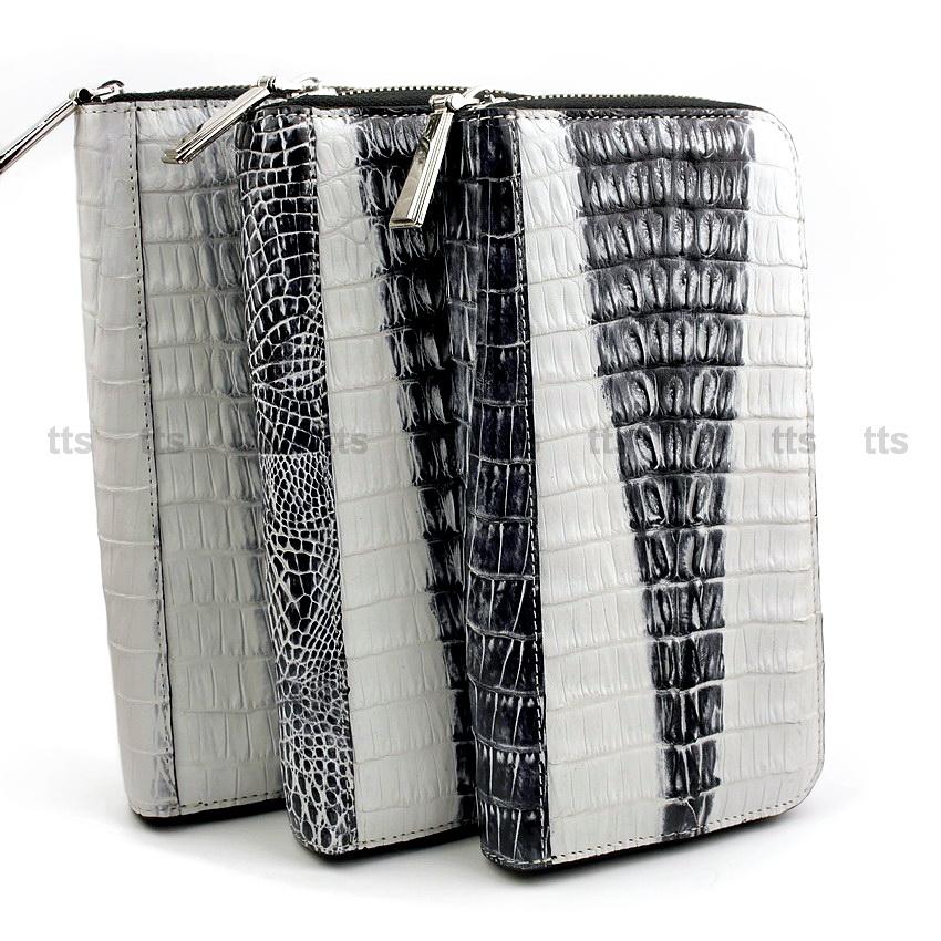 River กระเป๋าสตางค์สุภาพสตรี หนังจระเข้แท้ ส่วนหาง White Series