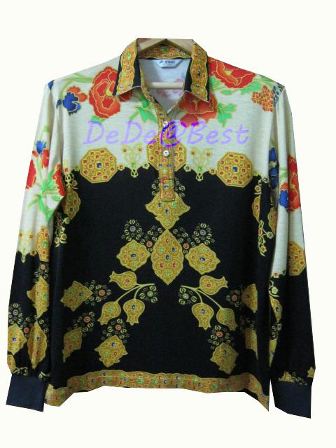 ขายแล้วค่ะ T38:Vintage top เสื้อวินเทจลายอัญมณีสวย&#x2764