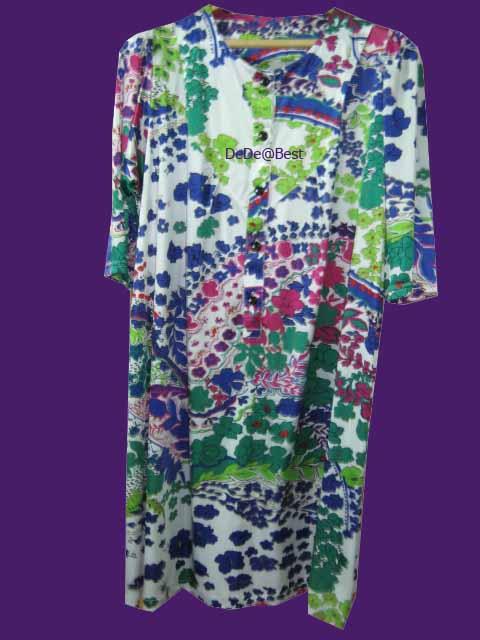 ขายแล้วค่ะ D24:Vintage dress เดรสวินเทจลายดอกไม้ผ้านิ่มลื่น&#x2764