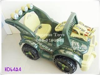 รถแบตเตอรี่เด็กนั่ง รุ่นHD6424 รถจิ๊ป