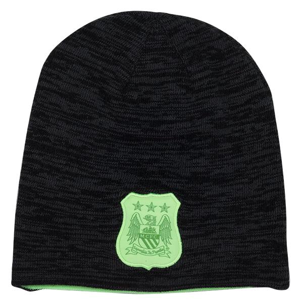 หมวกแมนเชสเตอร์ ซิตี้ของแท้ Manchester City Reversible Beanie - Dark Obsidian