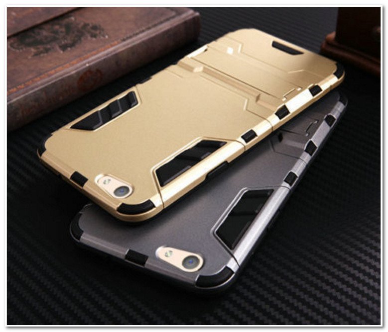 Hybrid Shockproof Armor Rubber Stand Case For OPPO R9s
