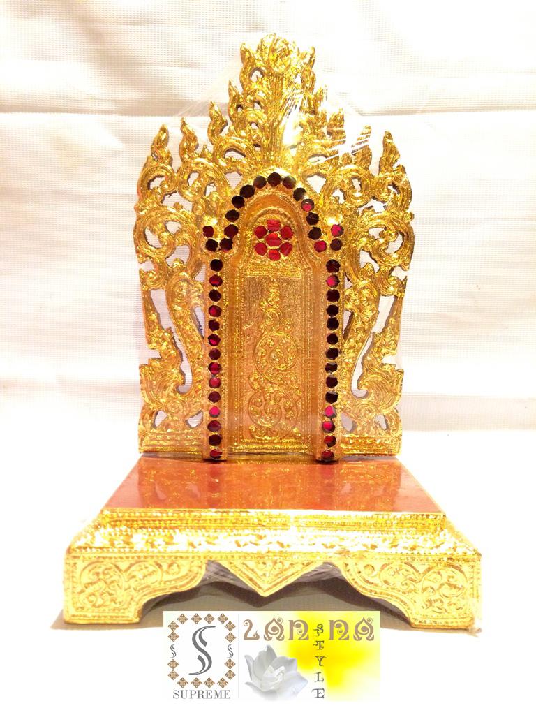 แท่นพระพม่า 6 นิ้ว (งานกระจก)
