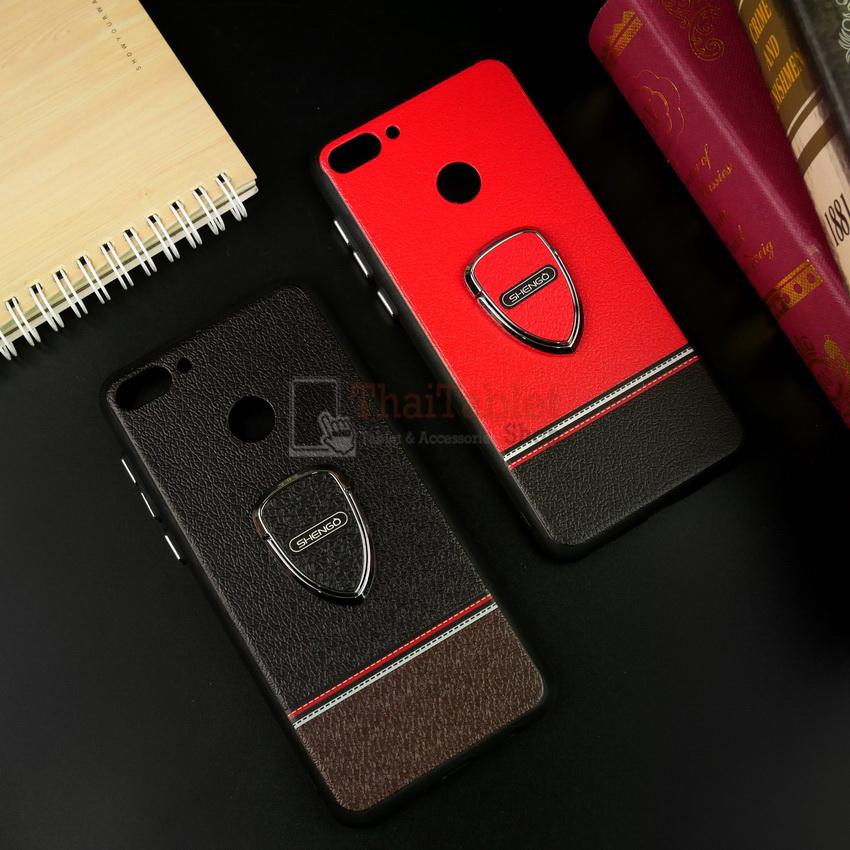 Shengo เคส Huawei Y9 2018 มาพร้อมแหวนคล้องนิ้ว