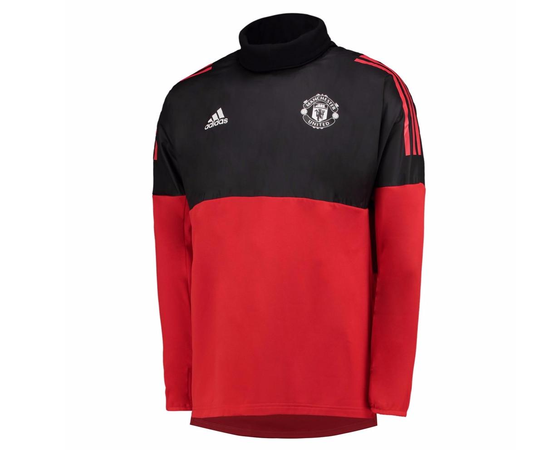 เสื้ออดิดาสแมนเชสเตอร์ ยูไนเต็ดเทรนนิ่ง UCL สีแดงของแท้ UCL Training Hybrid Top