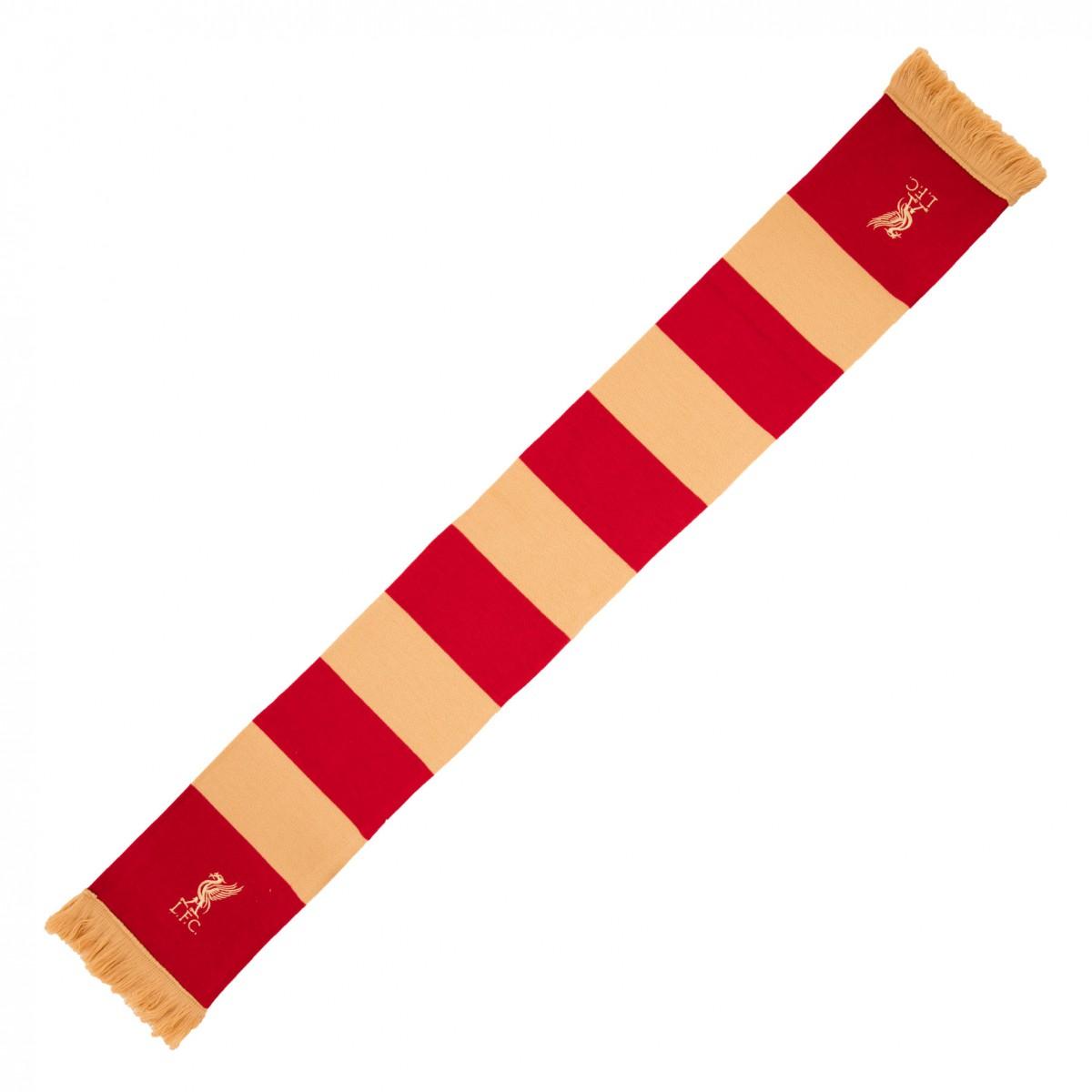 ผ้าพันคอลิเวอร์พูล Red & Gold Bar Scarf ของแท้