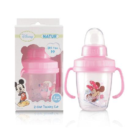 ถ้วยหัดดื่ม Minnie Mouse คละลาย สำหรับเด็ก 2 ช่วงวัย (2-Step Training Cup)