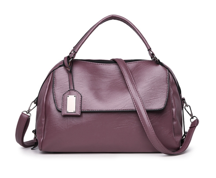 [ พร้อมส่ง Hi-End ] - กระเป๋าถือ/สะพาย สีม่วงโดดเด่น ทรงหมอนเท่ๆ ดีไซน์สวยเก๋เท่ๆ ดูดี งานหนังคุณภาพ ไม่เหมือนใคร