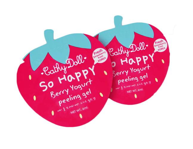 Cathy Doll So Happy Berry Yogurt Peeling Gel เจลเบอร์รี่โยเกิร์ตผลัดเซลล์ผิวหน้า ขจัดความหมองคล้ำ และผิวหน้าหยาบกร้านให้หมดไป