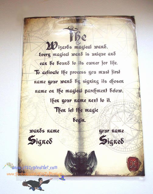 WAND ACTIVATION SHEET - UK.