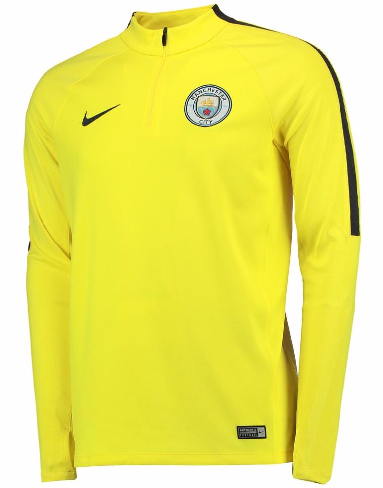 เสื้อแจ็คเก็ตแมนเชสเตอร์ ซิตี้ของแท้ Manchester City Squad Drill Top Yellow