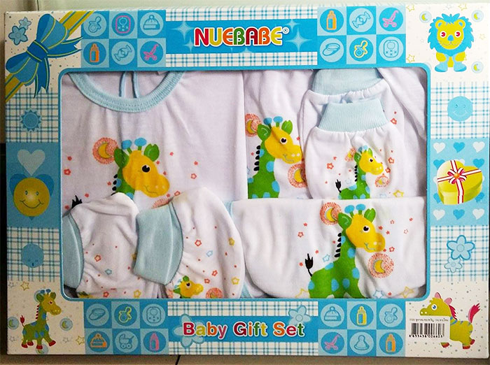 Gift Set ชุดเสื้อผ้าเด็กอ่อน แรกเกิด ยีราฟ Nuebabe