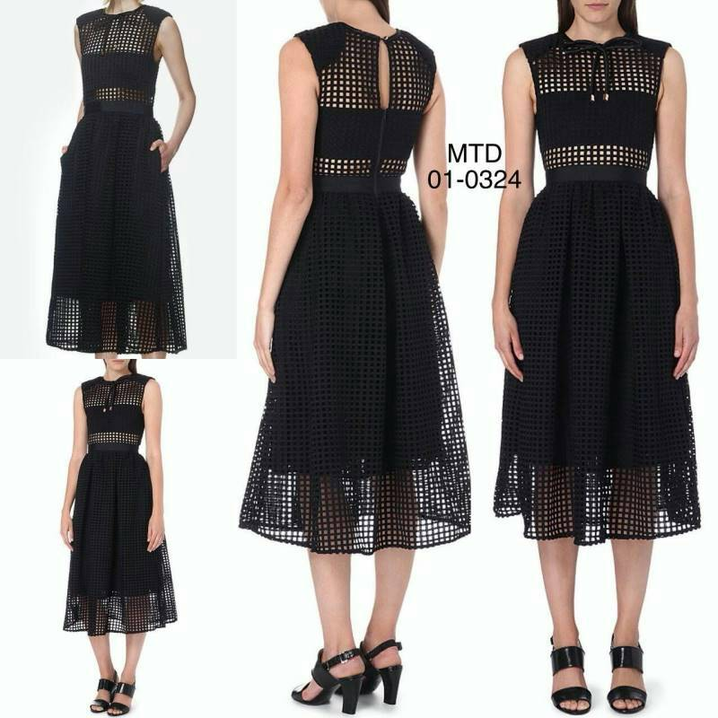 bf75d7cf6c20 01-0324 New Arrival Self Portrait Freya Embroidered Dress ...