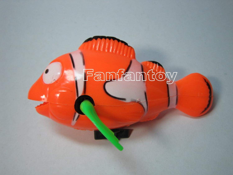 ปลาการ์ตูนว่ายน้ำ ไขลาน สีส้ม