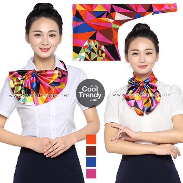 ผ้าพันคอสำเร็จรูป ผ้ายูนิฟอร์ม uniform ผ้าไหมซาติน : L88
