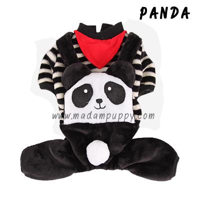 (พร้อมส่ง) ชุดกันหนาวสุนัขสี่ขา Panda