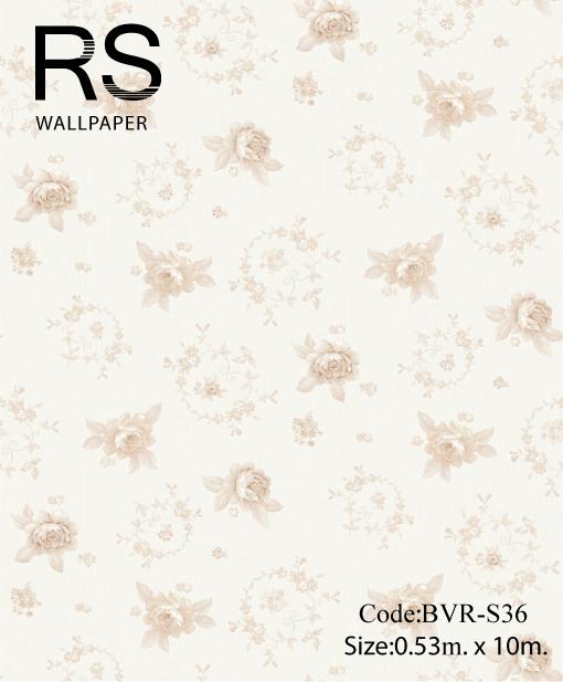 วอลเปเปอร์ลายดอกไม้ BVR-S36