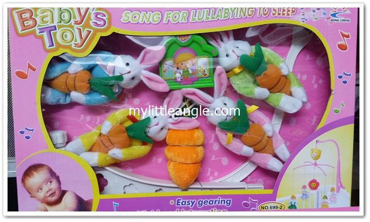 โมบายแขวนเปลเด็ก รุ่นกระต่ายน้อย ส่งฟรี