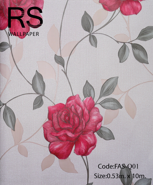 วอลเปเปอร์ลายดอกไม้ FAS-Q01