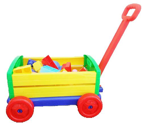 Big block with wagon รถลากบล็อกชิ้นใหญ่ 30 ชิ้น