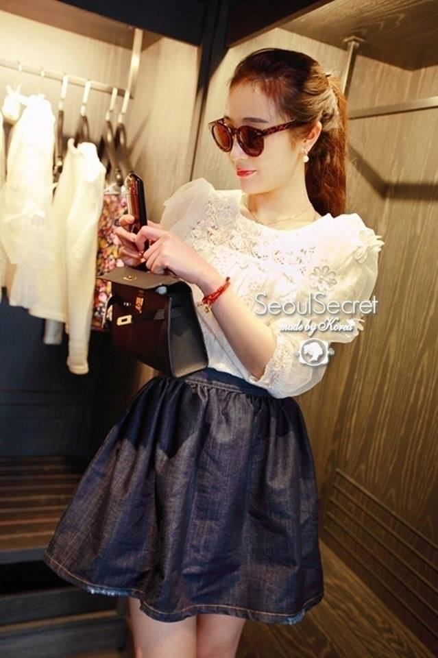 White Lady Lace & Organdy Sleeve by Seoul Secret