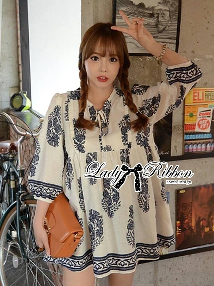 Lady Ribbon's Made Lady Iva Haute Modern Bohemian Dress