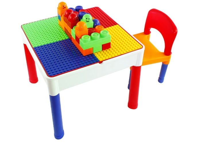 โต๊ะต่อบล็อค ตัวต่อ เลโก้ Lego 2in1 Construction Table Set ส่งฟรีพัสดุไปรษณีย์