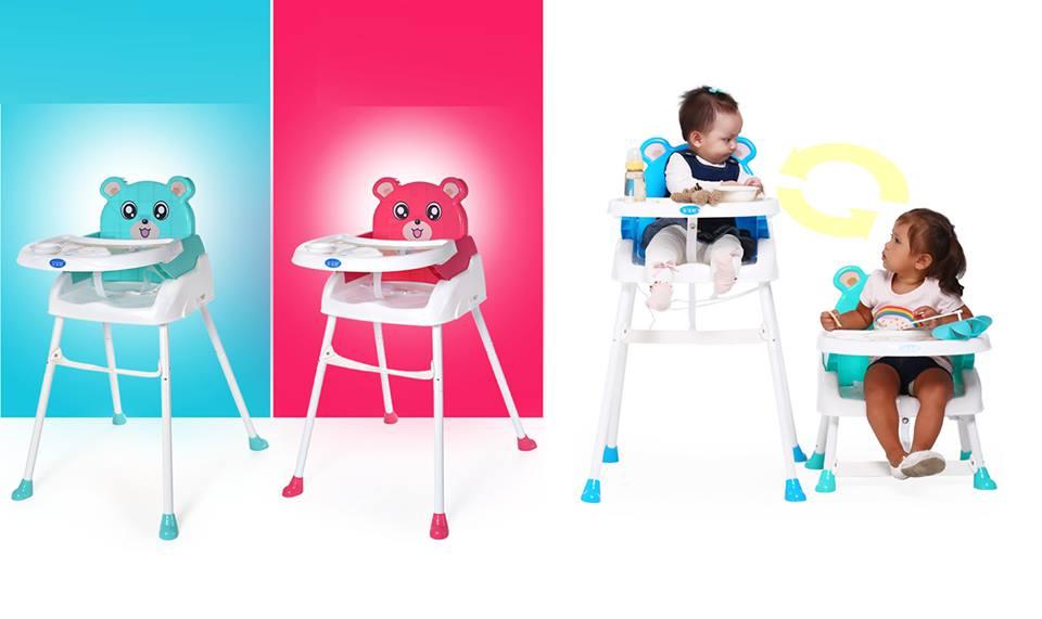 เก้าอี้ high chair พี่หมี มีสีฟ้า และชมพู