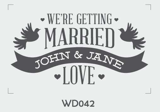ตราปั๊มงานแต่ง WD042