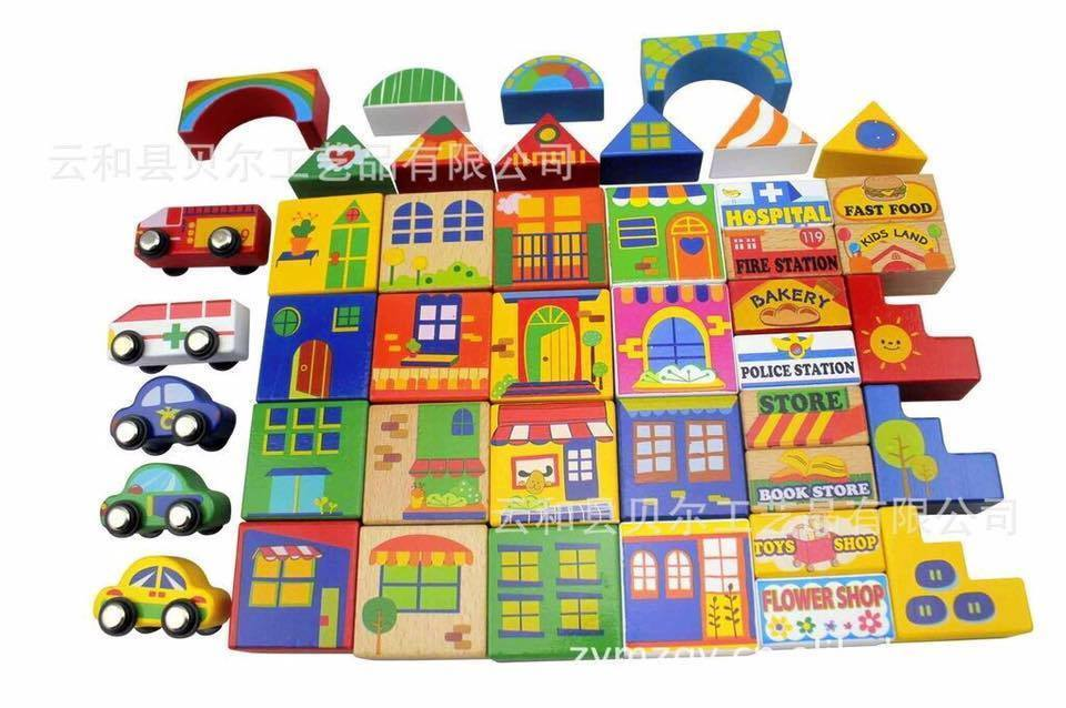 City blocks 44 pieces