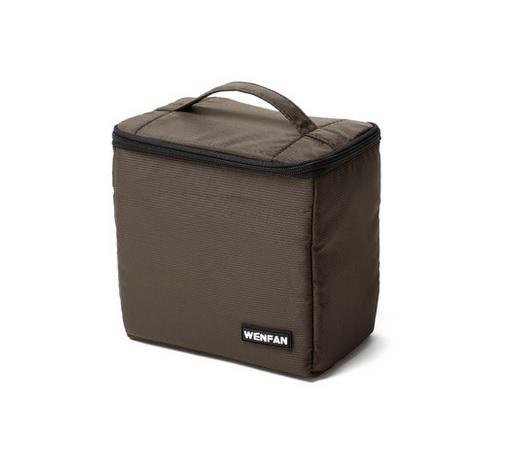 กระเป๋านวมWF ขนาดเล็ก สีน้ำตาล
