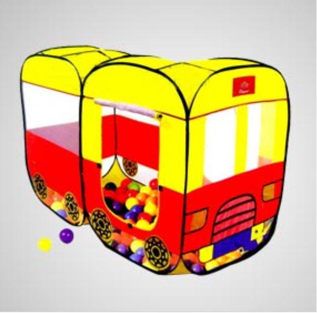 เต็นท์รถบัส pop up สุดฮิต + บอลพลาสติกเนื้อดี 100 ลูก ส่งฟรีธรรมดา / ems เพิ่ม 70 บ.