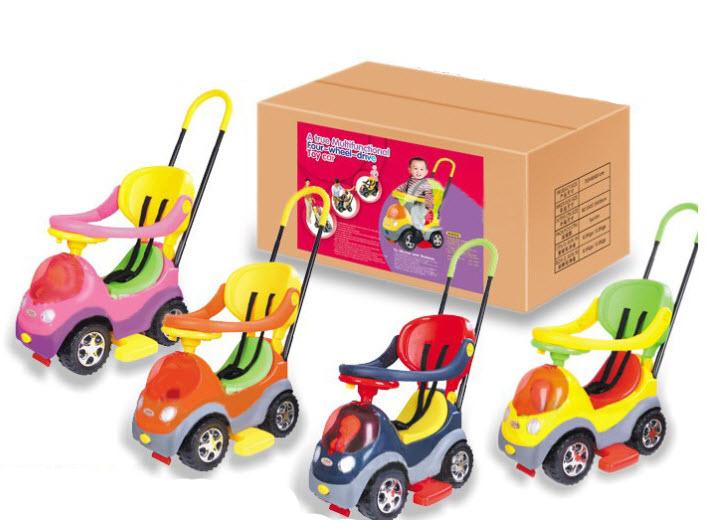 รถขาไถ 3 in 1 มีร่ม (รุ่นใหม่ล้าสุด) ( a true multifunctional four-wheel-drive car)