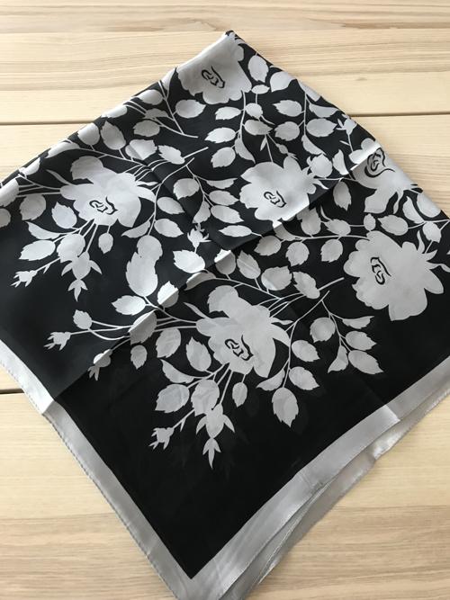 ผ้าพันคอ ผ้าคลุม ไหมญี่ปุ่น สกรีนลาย SJ01-006