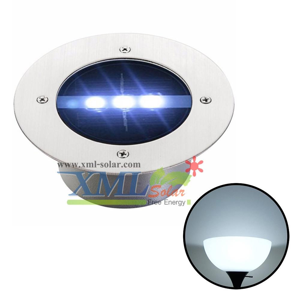 โคมไฟฝังพื้นโซล่าเซลล์ 3 LED (เเสง : ขาว)