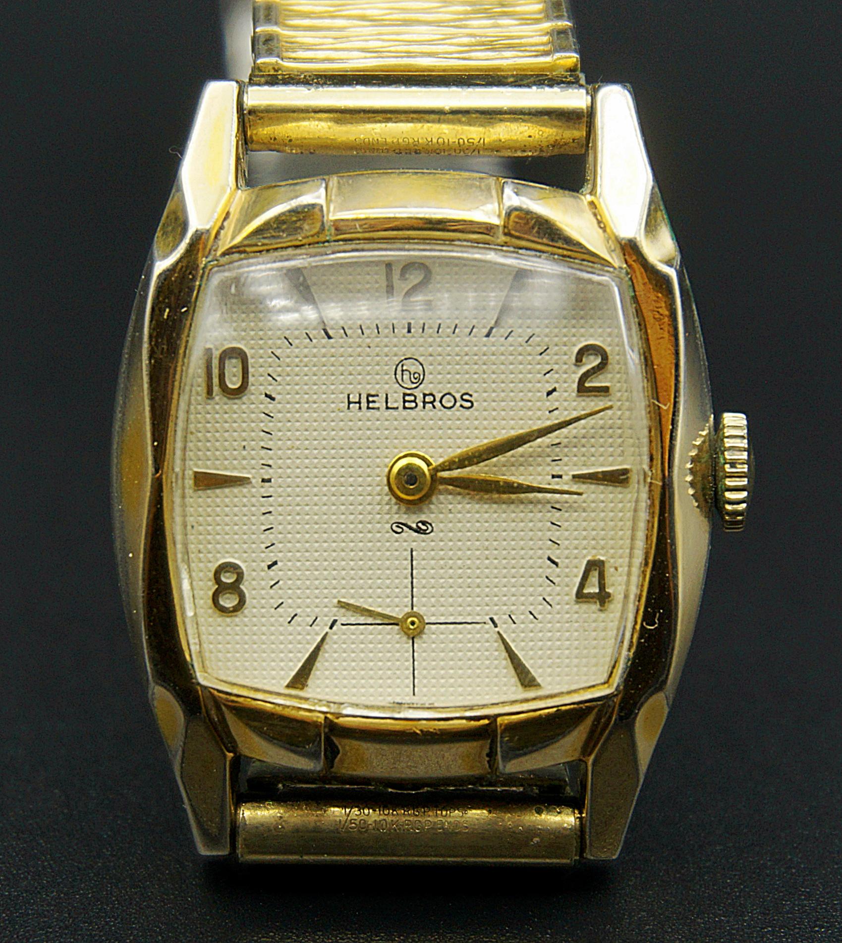 นาฬิกาเก่า HELBROS ไขลานสองเข็มครึ่ง