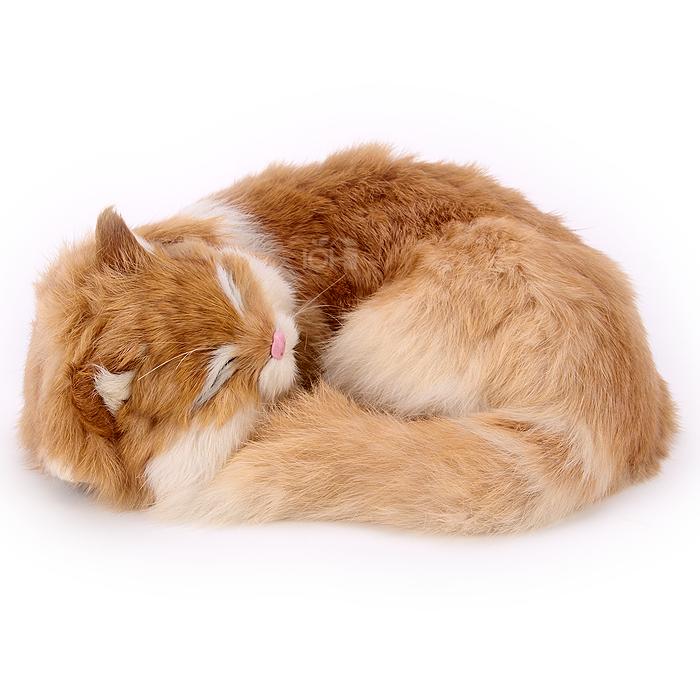 ตุ๊กตาเหมือนจริง แมวสีน้ำตาลนอนหลับ ขนาด 25x20x11cm (Pre Order)