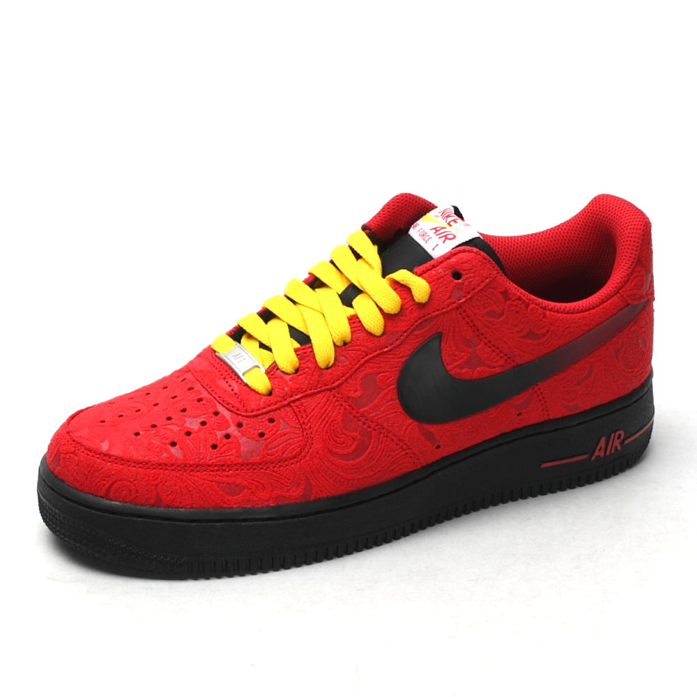 nike air force 1 red paisley