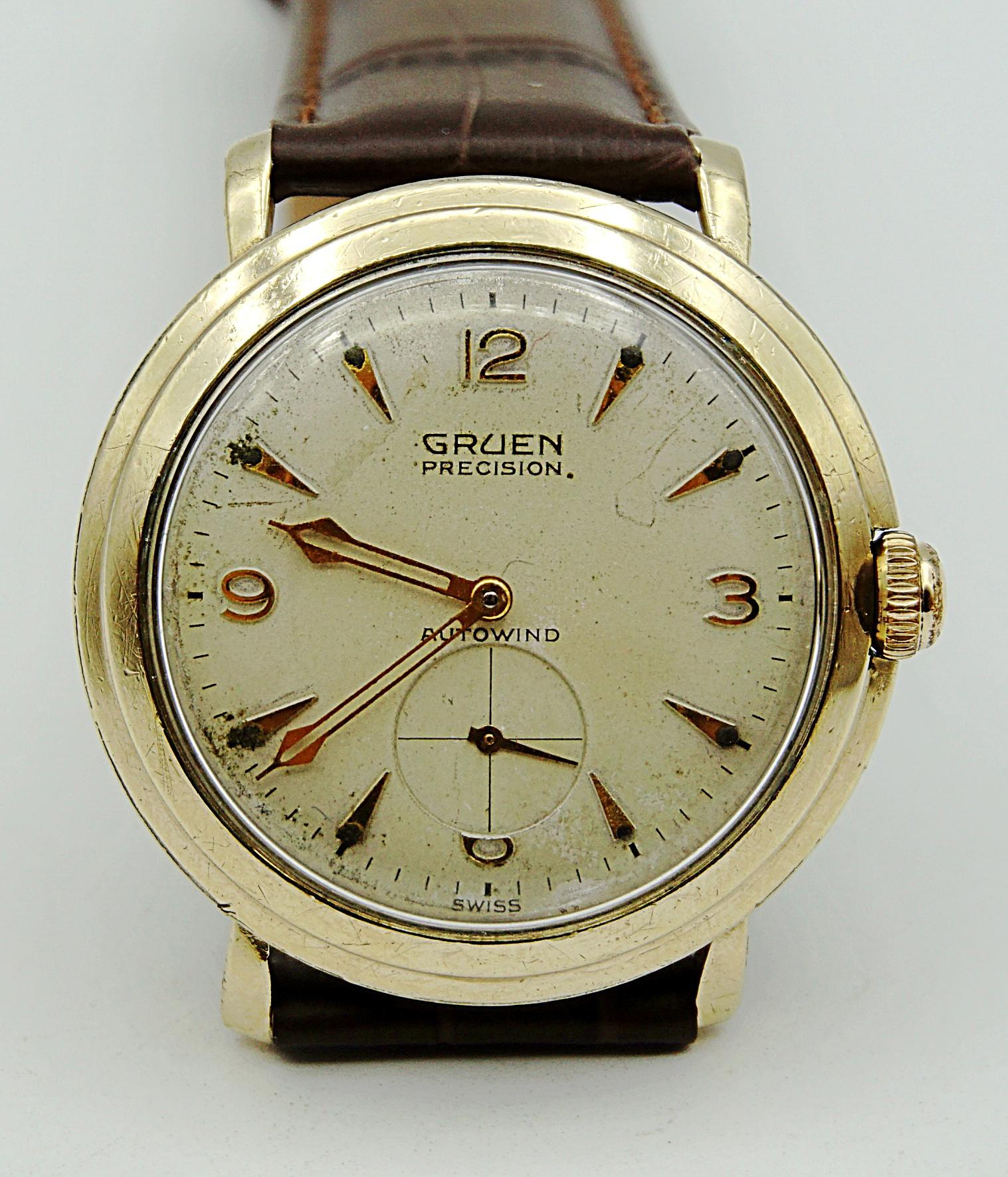 นาฬิกาเก่า GRUEN ออโตเมติกสองเข็มครึ่ง