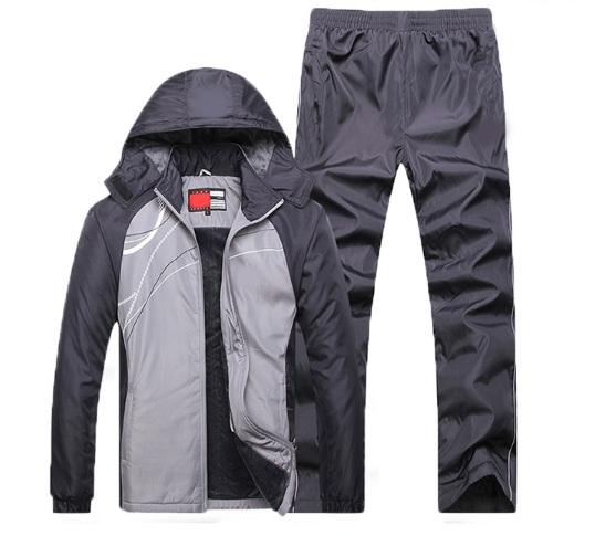 fashion ชุดวอร์มกีฬา แพคเก็ต 2 ชิ้น กันหนาว ซับในกำมะหยี่ (รอสินค้า15-20วัน)