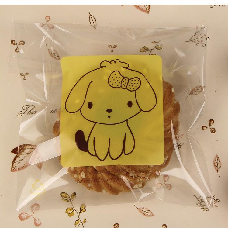 ถุงเบเกอรี่ ถุงขนม แบบมีเทปกาว100 ใบ/ห่อ (10*10+3 cm.)