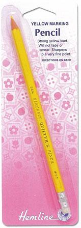ดินสอเขียนผ้าสีเหลือง