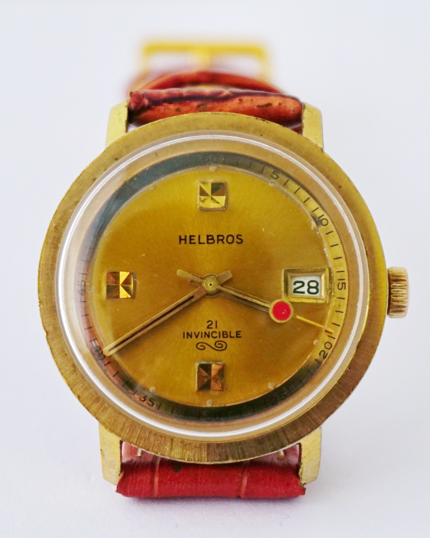นาฬิกาเก่า HELBROS ไขลาน