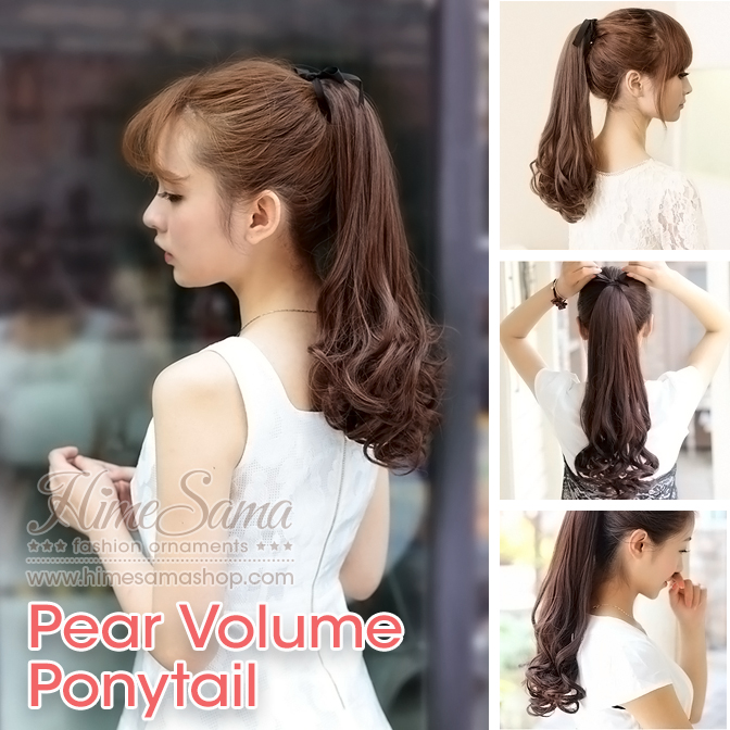 Ponytail แฮร์พีชหางม้า แบบ Pear Volume
