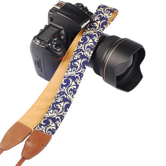 สายคล้องกล้องLYNCAรุ่นผสมหนังPU LL-10